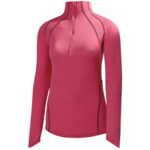 Helly Hansen Pace Shirt - UPF 30+, Zip Neck, Long Sleeve (For Women) in Begonia - Closeouts