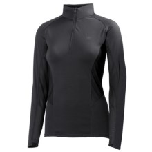 Helly Hansen Pace Shirt - UPF 30+, Zip Neck, Long Sleeve (For Women) in Ebony - Closeouts