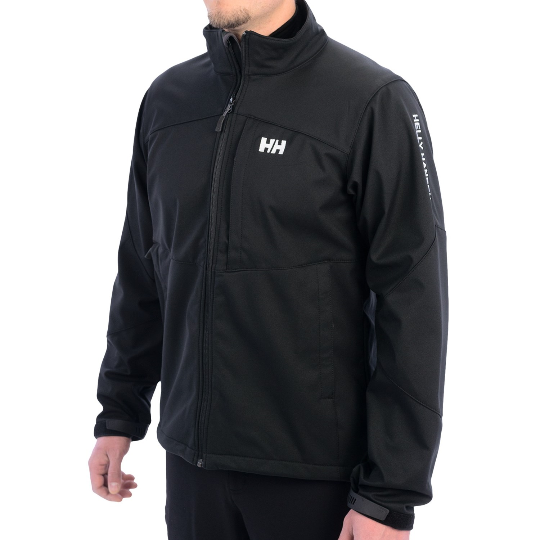 helly hansen paramount soft shell jacket for men in black. Black Bedroom Furniture Sets. Home Design Ideas