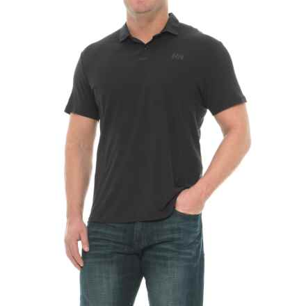 Helly Hansen Pier Polo Shirt - UPF 40, Short Sleeve (For Men) in Black - Closeouts