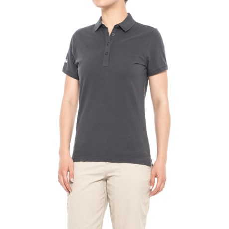 Helly Hansen Pique 2 Polo Shirt - Short Sleeve (For Women) in Ebony