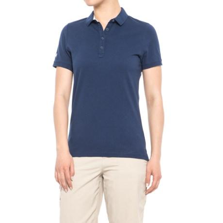 Helly Hansen Pique 2 Polo Shirt - Short Sleeve (For Women) in Evening Blue