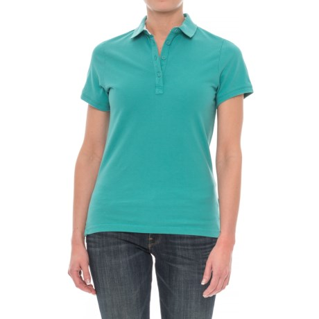 Helly Hansen Pique 2 Polo Shirt - Short Sleeve (For Women) in Latigo Bay