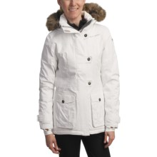 Helly Hansen Plenty Jacket - Insulated, Faux-Fur Trim  (For Women) in Bright Whit - Closeouts