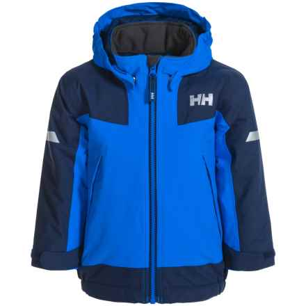 Helly Hansen PrimaLoft® K Velocity Jacket - Waterproof, Insulated (For Little Kids) in Racer Blue/Navy - Closeouts