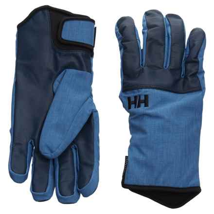 Helly Hansen Rogue HT Gloves - Waterproof, Insulated, Leather (For Men) in Evening Blue - Closeouts