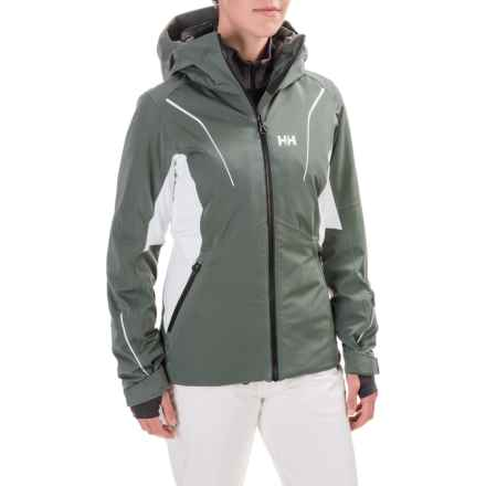 Helly Hansen Saint PrimaLoft® Jacket - Waterproof, Insulated (For Women) in Rock - Closeouts