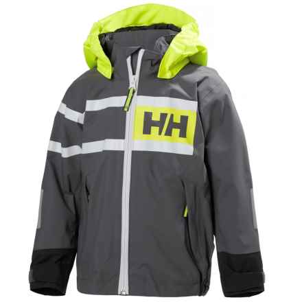 Helly Hansen Salt Power Jacket - Waterproof (For Little Kids) in Charcoal - Closeouts