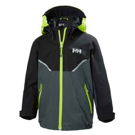 Helly Hansen Shelter Jacket - Waterproof (For Little Kids) in Charcoal - Closeouts