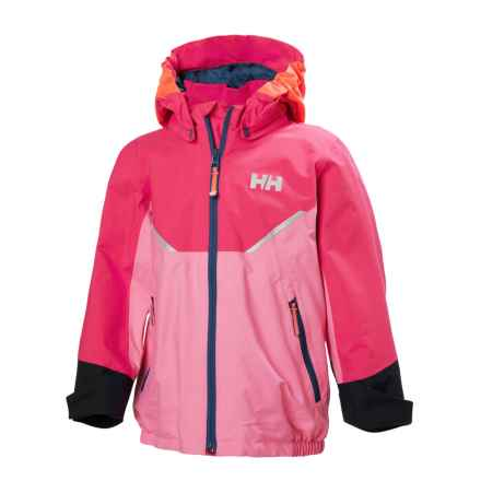 Helly Hansen Shelter Jacket - Waterproof (For Little Kids) in Pink Carnation - Closeouts
