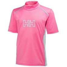 Helly Hansen Summerfun UV Shirt - UPF 50+, Short Sleeve (For Little Kids) in Sparkling Pink - Closeouts