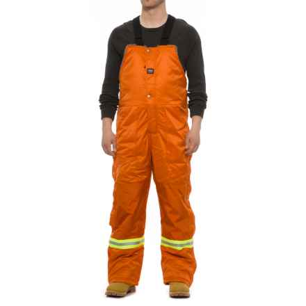 Helly Hansen Thompson Overall Bib Work Pants - Insulated (For Men) in Orange - Closeouts