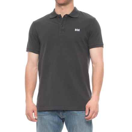 Helly Hansen Transat Polo Shirt - Short Sleeve (For Men) in Ebony - Closeouts