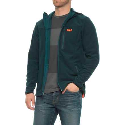 Helly Hansen Vanir Fleece Jacket - Hooded (For Men) in Midnight Green - Closeouts