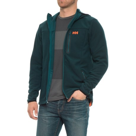 Helly Hansen Vanir Fleece Jacket - Hooded (For Men) in Midnight Green