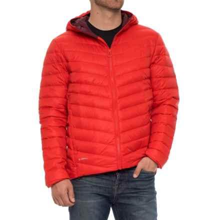Helly Hansen Verglas Down Insulator Hooded Jacket - 700+ Fill Power (For Men) in Alert Re - Closeouts