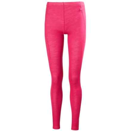 Helly Hansen Warm Base Layer Bottoms - Merino Wool (For Women) in Magenta - Closeouts