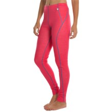 Helly Hansen Warm Base Layer Bottoms - Merino Wool (For Women) in Pink Glow - Closeouts
