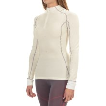Helly Hansen Warm Crystal Base Layer Top - Merino Wool, Zip Neck, Long Sleeve (For Women) in White - Closeouts