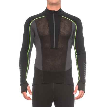Helly Hansen Warm Flow Ullr Base Layer Top - Zip Neck, Long Sleeve (For Men) in Black - Closeouts