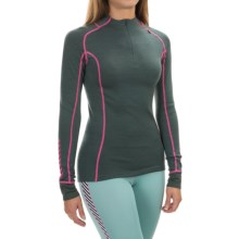 Helly Hansen Warm Freeze Base Layer Top - Merino Wool, Zip Neck, Long Sleeve (For Women) in Rock - Closeouts