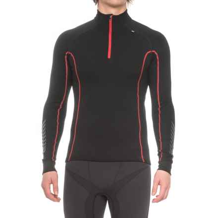 Helly Hansen Warm Freeze Base Layer Top - Zip Neck, Long Sleeve (For Men) in Black/Flag - Closeouts