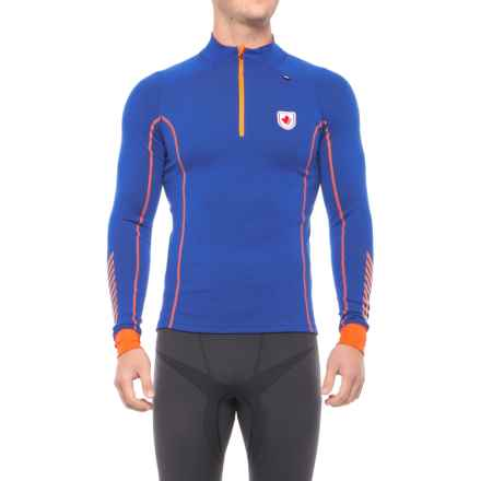 Helly Hansen Warm Freeze Base Layer Top - Zip Neck, Long Sleeve (For Men) in Classic Blue - Closeouts