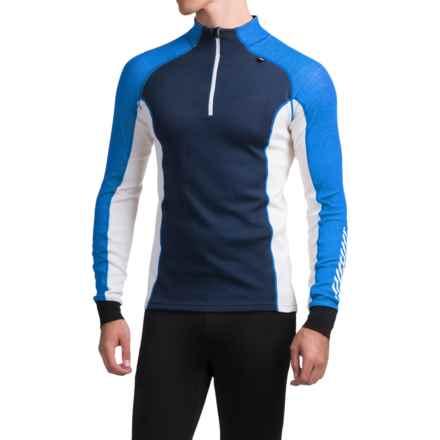 Helly Hansen Warm Freeze Base Layer Top - Zip Neck, Long Sleeve (For Men) in Cobalt Blue - Closeouts