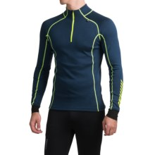 Helly Hansen Warm Freeze Base Layer Top - Zip Neck, Long Sleeve (For Men) in Deep Blue - Closeouts