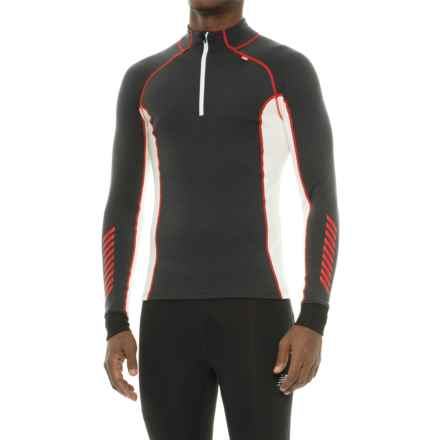 Helly Hansen Warm Freeze Base Layer Top - Zip Neck, Long Sleeve (For Men) in Ebony/White - Closeouts