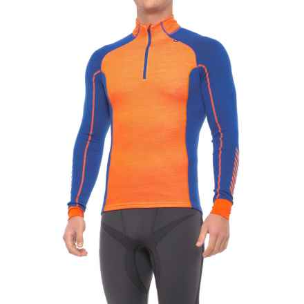 Helly Hansen Warm Freeze Base Layer Top - Zip Neck, Long Sleeve (For Men) in Magma/Cla - Closeouts
