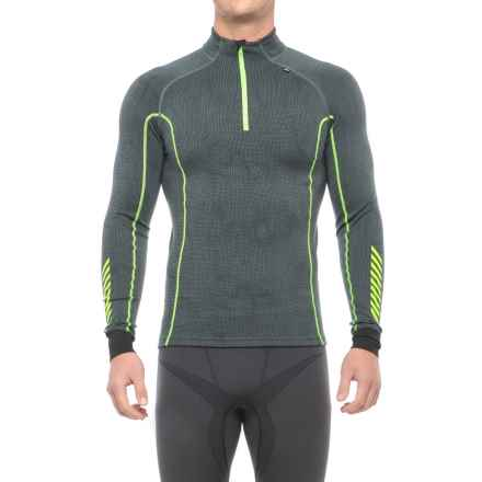 Helly Hansen Warm Freeze Base Layer Top - Zip Neck, Long Sleeve (For Men) in Rock Print - Closeouts