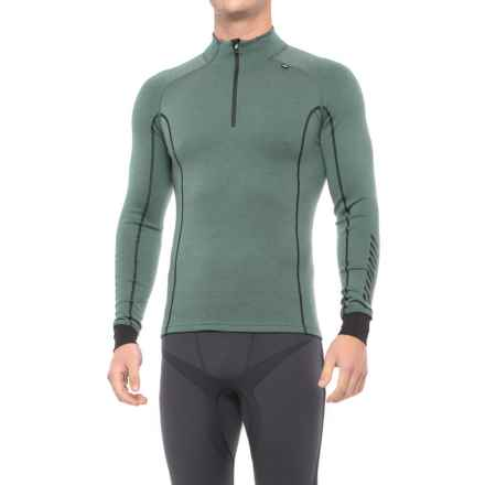 Helly Hansen Warm Freeze Base Layer Top - Zip Neck, Long Sleeve (For Men) in Rock - Closeouts