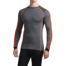 Helly Hansen Warm Ice Base Layer Top - Crew Neck, Long Sleeve (For Men) in Charcoal - Closeouts