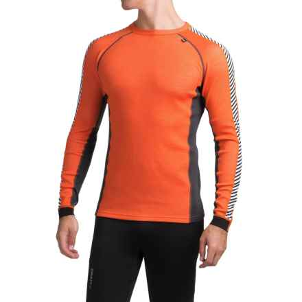 Helly Hansen Warm Ice Base Layer Top - Crew Neck, Long Sleeve (For Men) in Magma - Closeouts
