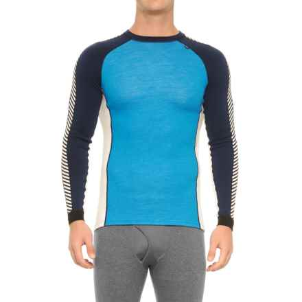 Helly Hansen Warm Ice Base Layer Top - Crew Neck, Long Sleeve (For Men) in Racer Blue - Closeouts