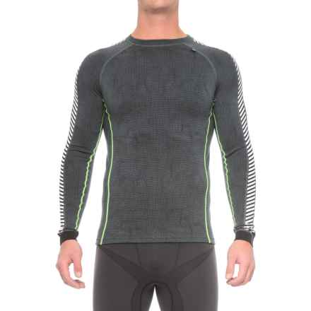 Helly Hansen Warm Ice Base Layer Top - Crew Neck, Long Sleeve (For Men) in Rock Print - Closeouts