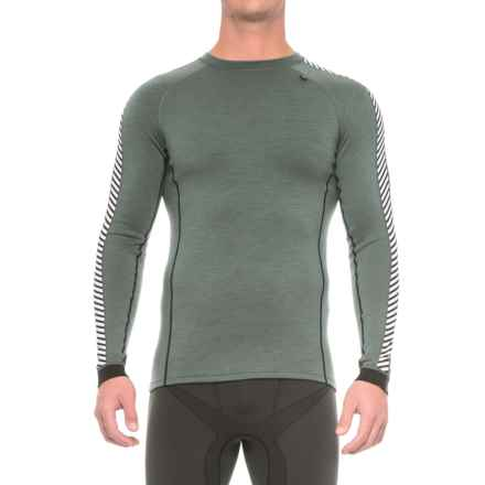 Helly Hansen Warm Ice Base Layer Top - Crew Neck, Long Sleeve (For Men) in Rock - Closeouts