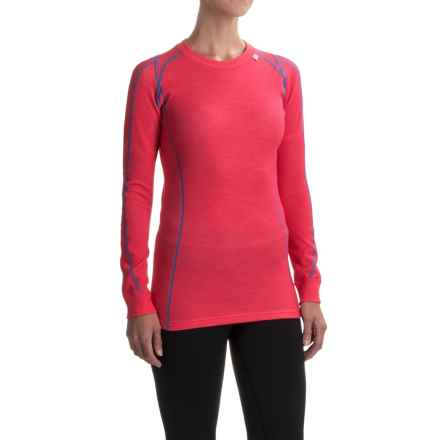 Helly Hansen Warm Ice Base Layer Top - Merino Wool, Crew Neck, Long Sleeve (For Women) in Pink Glow - Closeouts