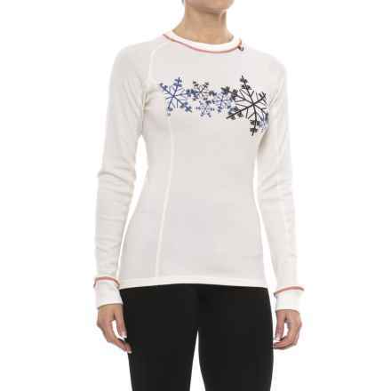 Helly Hansen Warm Ice Base Layer Top - Merino Wool, Crew Neck, Long Sleeve (For Women) in White Snow - Closeouts