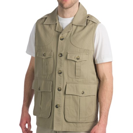 Hemingway Safari Safari Vest (For Men) in Tan