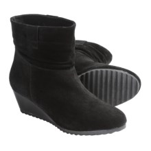 "Henri Pierre by Bastien Agatha Boots - Suede, 5"" (For Women) in Black - Closeouts"