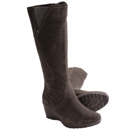 Henri Pierre by Bastien Cassandre Boots - Suede (For Women) in Steel Grey
