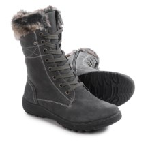 Henri Pierre by Bastien Jaki Boots - Waterproof, Suede (For Women) in Grey - Closeouts