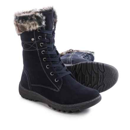 Henri Pierre by Bastien Jaki Boots - Waterproof, Suede (For Women) in Navy - Closeouts