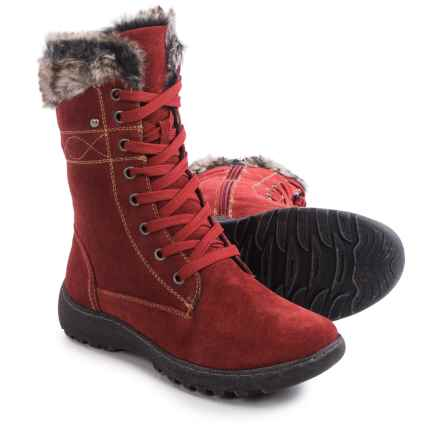 Henri Pierre by Bastien Jaki Boots - Waterproof, Suede (For Women) in Red - Closeouts