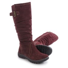 Henri Pierre by Bastien Jane Boots - Waterproof, Suede (For Women) in Burgundy - Closeouts
