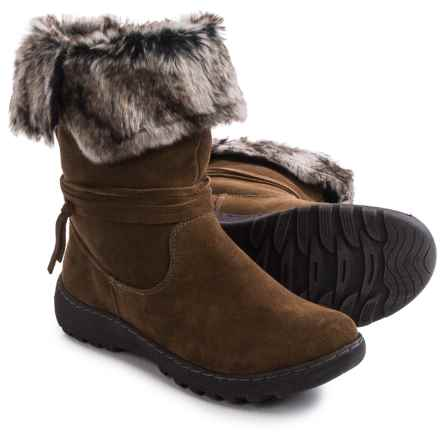 Henri Pierre by Bastien Jaya Boots - Waterproof, Wool Lined, Slip-Ons (For Women) in Brown - Closeouts