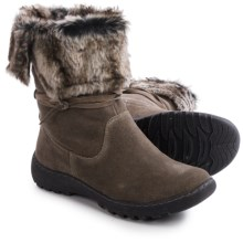 Henri Pierre by Bastien Jaya Boots - Waterproof, Wool Lined, Slip-Ons (For Women) in Grey - Closeouts