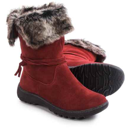 Henri Pierre by Bastien Jaya Boots - Waterproof, Wool Lined, Slip-Ons (For Women) in Red - Closeouts